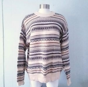 Sweet Patterned Knit Sweater Indie